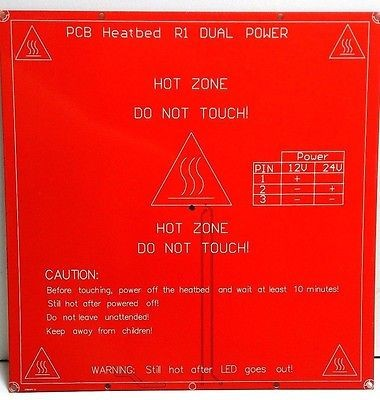 PCB MK2B R1 Dual Power Heizbett