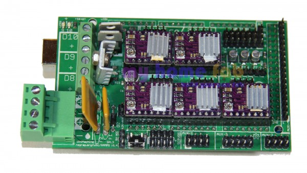 Arduino Mega 2560 & RAMPS 1.4 & 5x DRV8825
