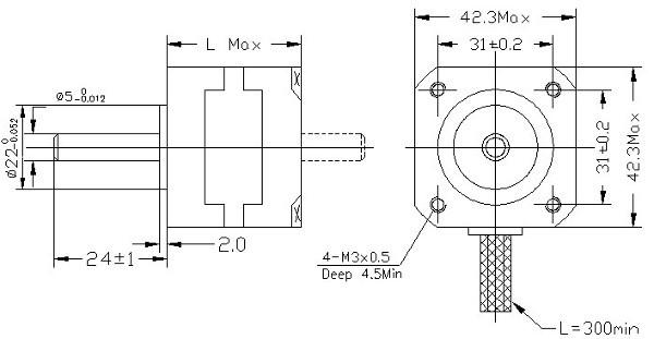42BYGH609-dimensions