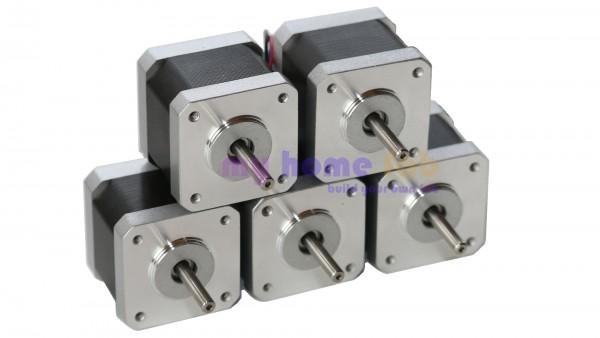 Spar-Set 5x NEMA 17 Schrittmotoren - 4000g*cm