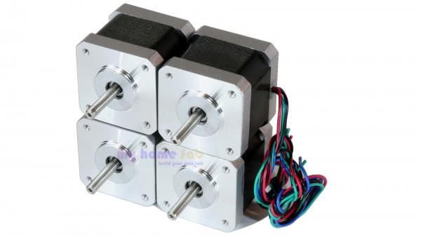 Set 4x NEMA 17 stepper motor - 4000g*cm